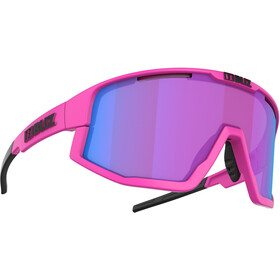 Bliz Fusion M12 Glasses matt neon pink/begonia with blue multi